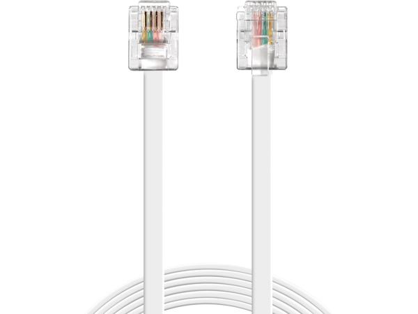 Sandberg - Telefonleitungskabel - RJ-11 (M) bis RJ-11 (M) - 1.8 m - weiß