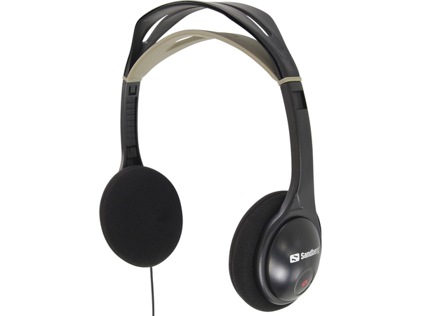 Sandberg Headphone - Kopfhörer - On-Ear - 3.5 mm plug - Schwarz