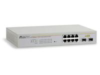 Allied Telesis AT GS950/8 WebSmart Switch - Switch - verwaltet - 8 x 10/100/1000 + 2 x Shared SFP - Desktop