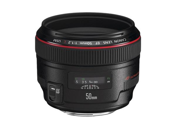 Canon EF - Objektiv - 50 mm - f/1.2 L USM - Canon EF - für EOS 1000, 1D, 50, 500, 5D, 7D, Kiss F, Kiss X2, Kiss X3, Rebel T1i, Rebel XS, Rebel XSi