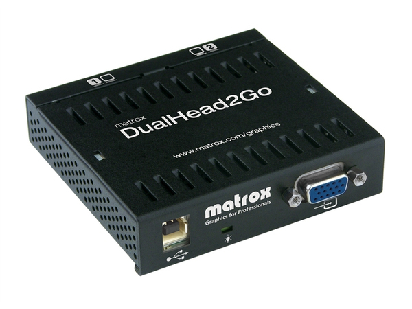 Matrox Graphics eXpansion Module DualHead2Go - Analog Edition - Videokonverter - VGA