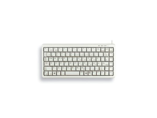 CHERRY Compact-Keyboard G84-4100 - Tastatur - USB - Englisch - US - Hellgrau