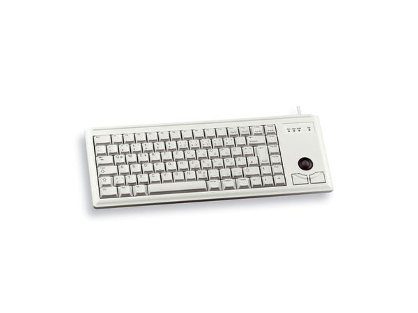 CHERRY Compact-Keyboard G84-4400 - Tastatur - PS/2 - Englisch - Europa - Hellgrau
