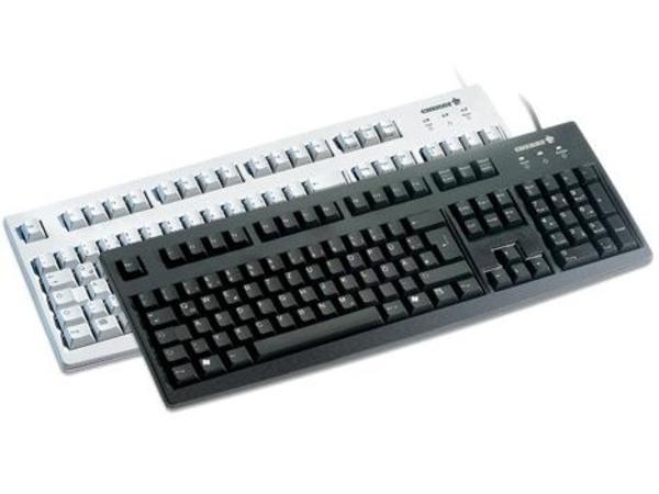 CHERRY G83 6105 - Tastatur - PS/2 - Layout für Großbritannien - Grau
