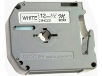 Brother MK231S - Schwarz auf Weiß - Rolle (1,2 cm x 4 m) 1 Rolle(n) Blisterverpackung - nicht-laminiertes Schriftband - für P-Touch PT-55, PT-65, PT-75, PT-80, PT-85, PT-BB4, PT-M95