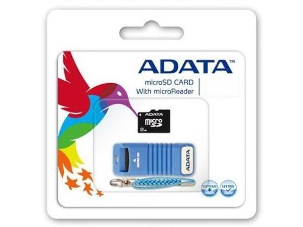 ADATA - Flash-Speicherkarte - 8 GB - Class 4 - microSDHC - Schwarz/Blau