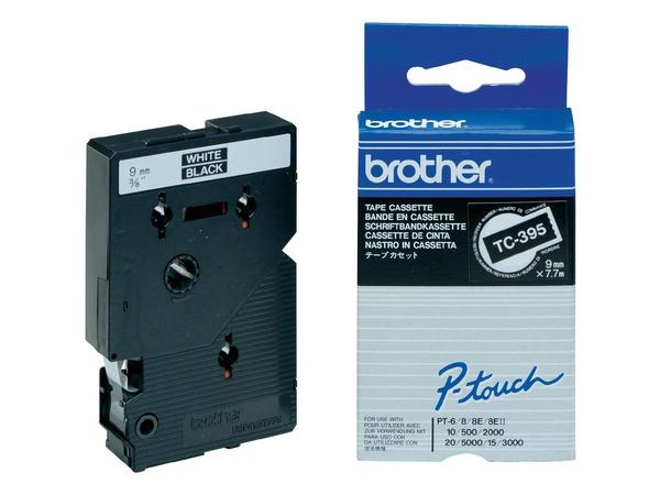 Brother - Laminiertes Band - Schwarz, weiß - Rolle (0,9 cm x 8 m) 1 Rolle(n) - für P-Touch PT-2000, PT-3000, PT-500, PT-5000, PT-8E