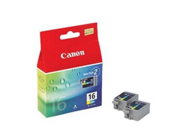 Canon BCI-16 - 2er-Pack - Gelb, Cyan, Magenta - Original - Tintenbehälter - für i90; PIXMA iP90, iP90v, mini220; SELPHY CP500, DS700, DS810