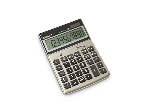 Canon HS-1200TCG - Desktop-Taschenrechner - 12 Stellen - Solarpanel, Batterie - Champagnergold