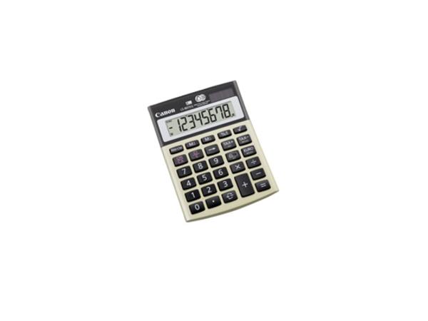 Canon LS-80TEG - Desktop-Taschenrechner - LCD - 8 Stellen - Solarpanel, Batterie - Silver Metallic