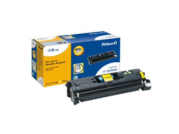 Pelikan 1118 - Gelb - Tonerpatrone (entspricht: HP Q3962A ) - für Canon Laser Shot LBP-5200; LaserBase MF8180; LBP-5200; HP Color LaserJet 2550, 2820, 2840
