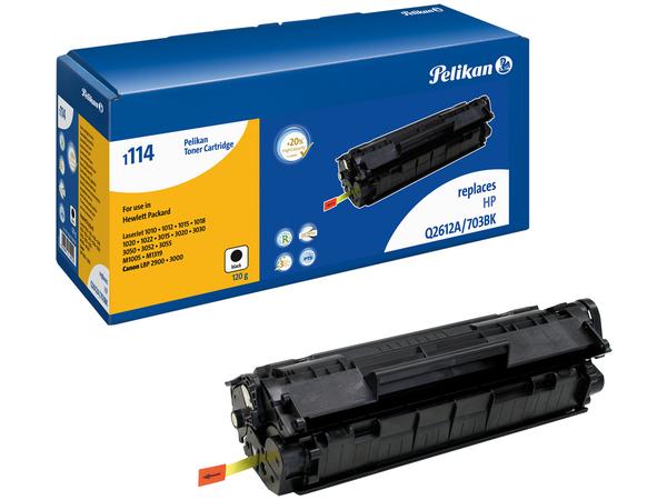 Pelikan 1114 - Schwarz - Tonerpatrone (entspricht: HP Q2612A ) - für Canon i-SENSYS LBP2900, LBP3000; Laser Shot LBP-2900, 3000; HP LaserJet 10XX, 30XX, M1005