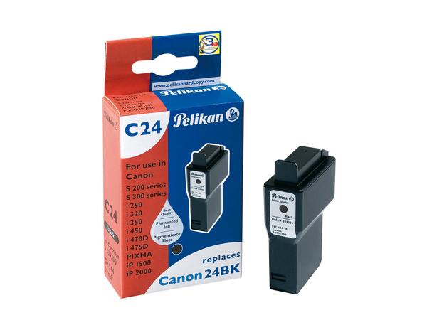 Pelikan C24 - 10 ml - Schwarz - Tintenbehälter (entspricht: Canon BCI-24Bk ) - für Canon i45X; PIXMA iP1500, iP2000, MP110, MP130; S200, 330; SmartBase MP360, MP370, MP390