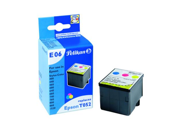 Pelikan E06 - 39 ml - Farbe (Cyan, Magenta, Gelb) - Tintenpatrone (entspricht: Epson T052 ) - für Epson Stylus Color 1520, 400, 440, 600, 640, 740, 760, 800, 850, 860