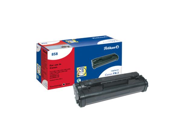 Pelikan 858 - Schwarz - Tonerpatrone (entspricht: Canon FX-3 ) - für Canon FAX L200, L250, L260i, L280, L300, L350; FAXPHONE L75; MultiPASS L60, L90