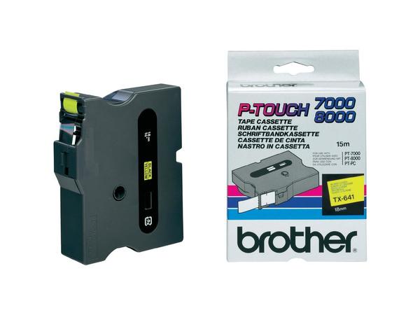 Brother - Schwarz, Gelb - Rolle (1,8 cm) laminiertes Band - für P-Touch PT-7000, PT-8000, PT-PC