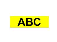 Brother TX611 - Laminiertes Band - Schwarz auf Gelb - Rolle (0,6 cm x 15,2 m) 1 Rolle(n) - für P-Touch PT-7000, PT-8000, PT-PC