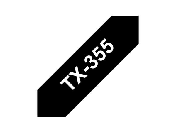 Brother TX - Weiß auf Schwarz - Rolle (2,4 cm) 1 Rolle(n) laminiertes Band - für P-Touch PT-30, PT-7000, PT-8000, PT-PC