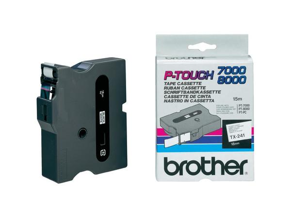 Brother - Laminiertes Band - Rolle (1,8 cm) 1 Rolle(n) - für P-Touch PT-300, PT-350, PT-7000, PT-8000, PT-PC