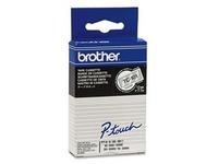 Brother - Schwarz, durchsichtig - Rolle (1,2 cm x 7,7 m) 1 Stck. Druckerband - für P-Touch PT-15, PT-20, PT-2000, PT-3000, PT-500, PT-5000, PT-6, PT-8, PT-8E