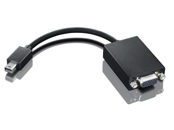 Lenovo - VGA-Kabel - Mini DisplayPort (M) bis HD-15 (W) - 20 cm - für ThinkPad Helix; ThinkPad P51; T43X; T470; T530; W550; X1 Carbon; X240; ThinkVision LT1952
