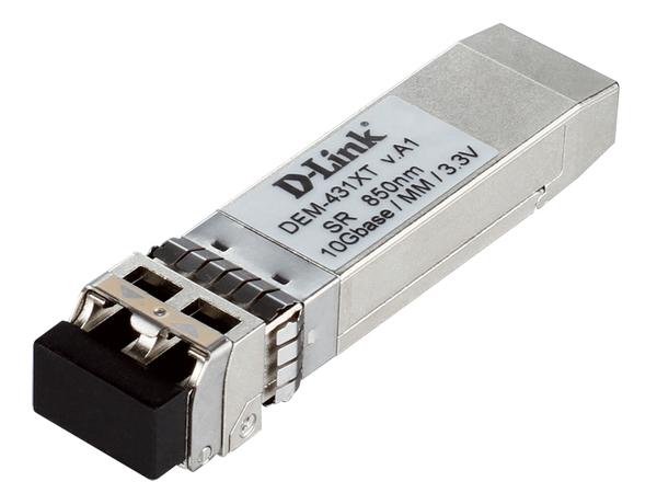 D-Link DEM 431XT - SFP+-Transceiver-Modul - 10 Gigabit Ethernet - 10GBase-SR - bis zu 300 m - für xStack DGS-3620-28PC, DGS-3620-28SC, DGS-3620-28TC, DGS-3620-52P, DGS-3620-52T