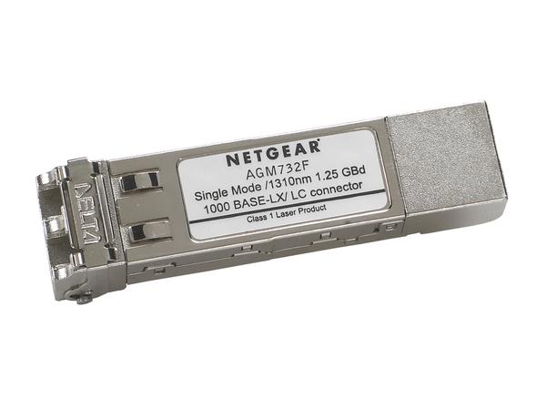 NETGEAR ProSafe AGM732F - SFP (Mini-GBIC)-Transceiver-Modul - Gigabit Ethernet - 1000Base-LX - LC Einzelmodus - bis zu 10 km