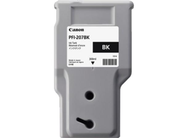 Canon PFI-207 BK - 300 ml - Schwarz - Original - Tintenbehälter - für imagePROGRAF iPF680, iPF685, iPF780, iPF785