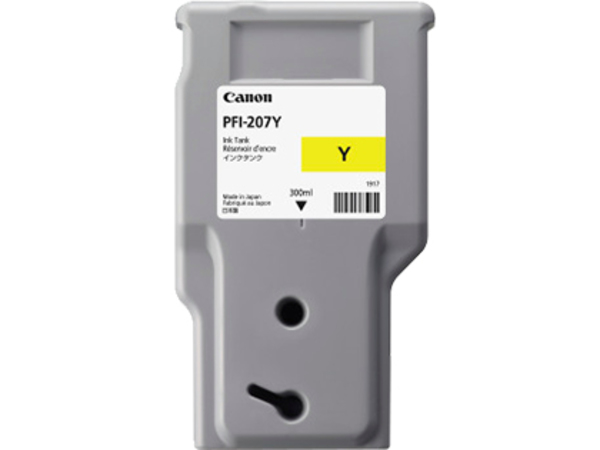 Canon PFI-207 Y - 300 ml - Gelb - Original - Tintenbehälter - für imagePROGRAF iPF680, iPF685, iPF780, iPF785