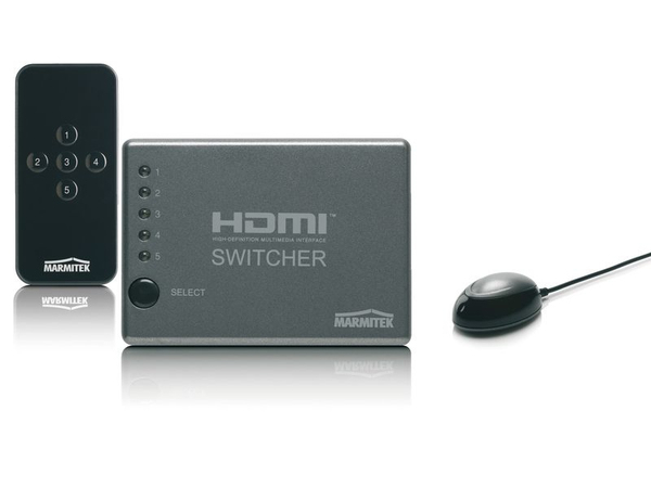 Marmitek Connect 350, HDMI, Schwarz, 1920 x 1200 (WUXGA), 1080i,1080p,480p,576i,576p,720p, 100 - 240, 50/60