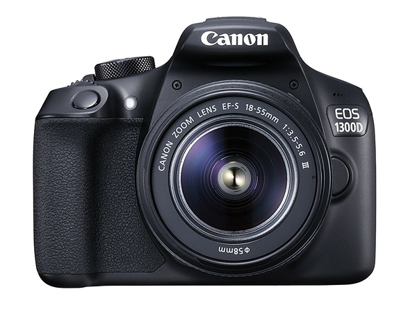 Canon EOS 1300D + EF-S 18-55 DC III, 18 MP, 5184 x 3456 Pixel, CMOS, Full HD, 485 g, Schwarz