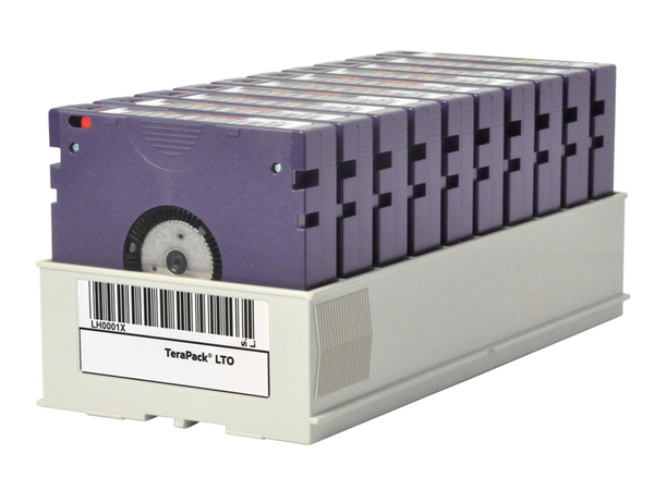 HPE BaFe Custom Labeled TeraPack Certified CarbideClean - Storage Library Cartridge Magazine - Kapazität: 10 LTO-6-Bandlaufwerke - für P/N: Q0H15A, Q0H16A
