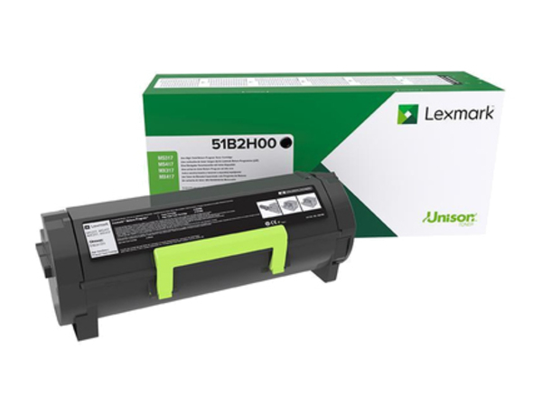 Lexmark - Hohe Ergiebigkeit - Schwarz - Original - Tonerpatrone LCCP, LRP - für Lexmark MS417dn, MX417de
