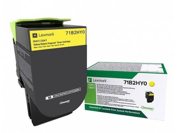 Lexmark X417 - Hohe Ergiebigkeit - Gelb - Original - Tonerpatrone LCCP, LRP - für Lexmark CS417dn, CS517de, CX417de