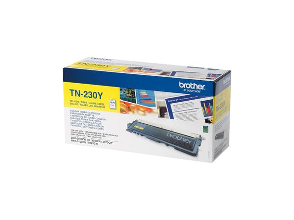 Toner Brother TN 230Y yellow 1400Seiten HL 3040CN/3070CW/ DCP 9010CN/MFC9120CN