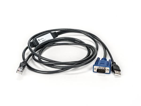 Vertiv Avocent USBIAC-7, USB, VGA, RJ-45, 2,1 m, Schwarz, Blau
