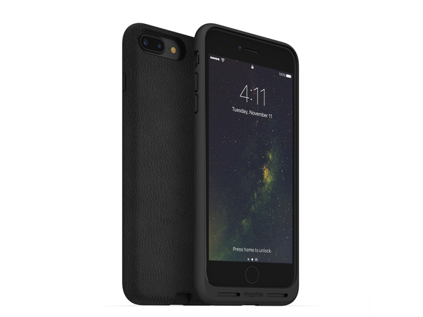 Mophie Charge Force, Abdeckung, Apple, iPhone 7 Plus, Schwarz