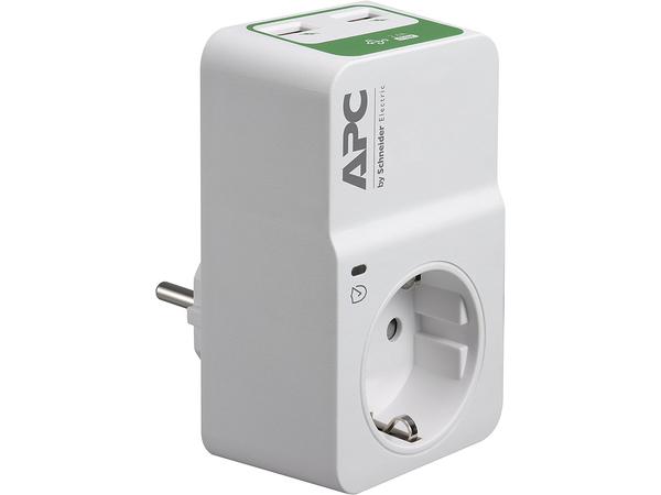 APC Essential Surgearrest PM1WU2 - Überspannungsschutz - Wechselstrom 230 V - Ausgangsbuchsen: 1 - Deutschland - weiß
