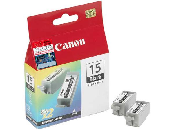 Canon Cartridge BCI-15 Black, Schwarz, - i80 - i70 - PIXMA iP90 - PIXMA iP90v Refurbished - PIXMA iP90v, Tintenstrahl